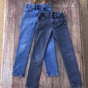 2pairs of boys Gap jeans.